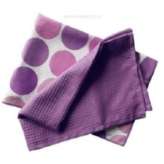 "Полотенца кухонные ""Блеск"" (2 шт.) 40х60, фиолетовые"